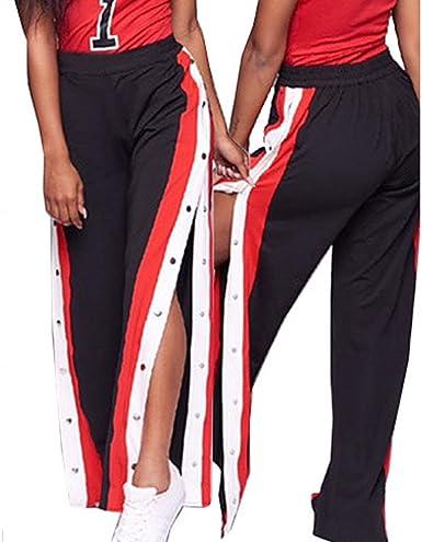 Pantalones Anchos Mujer De Pierna Ancha Sueltos Sexy Deportivos Pantalon Amazon Es Ropa Y Accesorios
