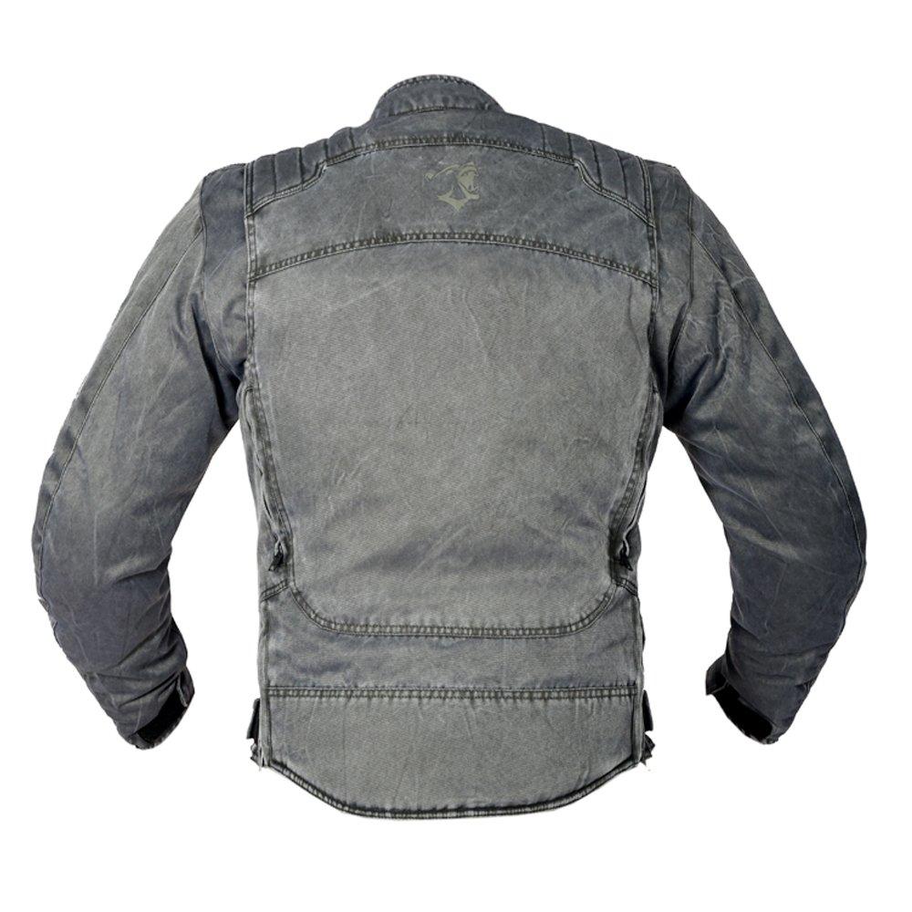 Bela Short motorbike textile jacket for men RANGER VINTAGE CE Approved XL, VENDIMIA GRIS
