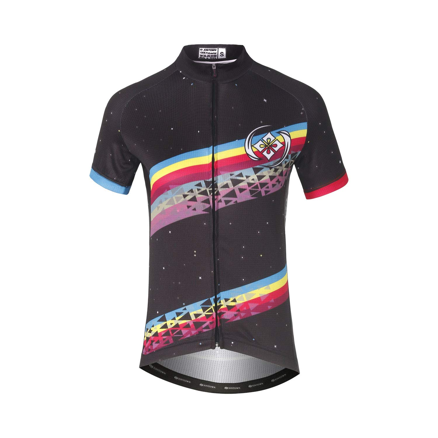 DuShow Women Cycling Jersey Short Sleeve Cycling Shirt Bicycle Bike Top Stripe-XXXL by DuShow