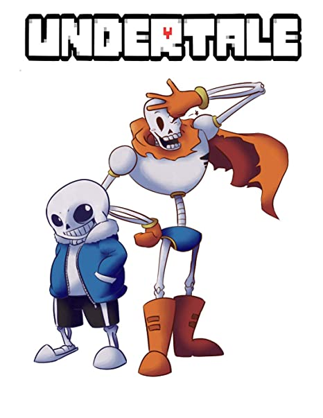 Amazon com: UNDERTALE SANS AND PAPYRUS T SHIRT SKELETON BROTHER