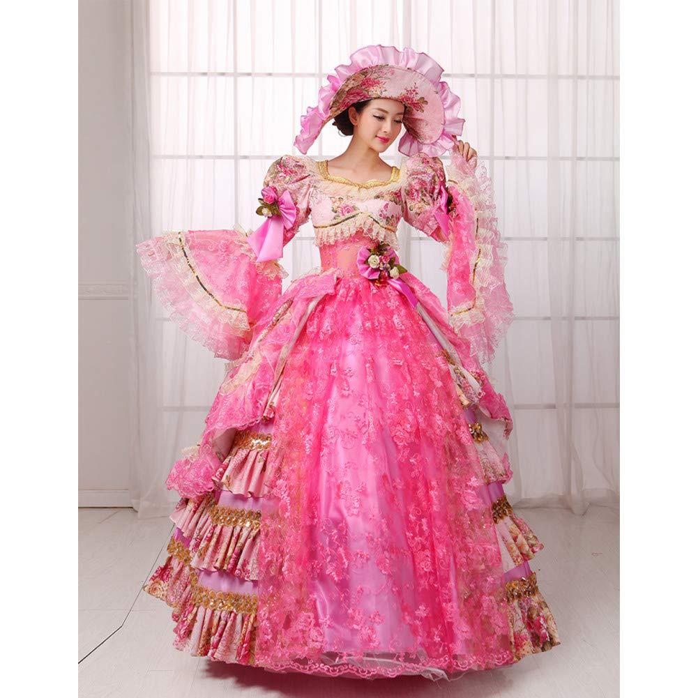 QAQBDBCKL Vestido De Corte Femenino 17 Siglo XVIII Victoriano ...