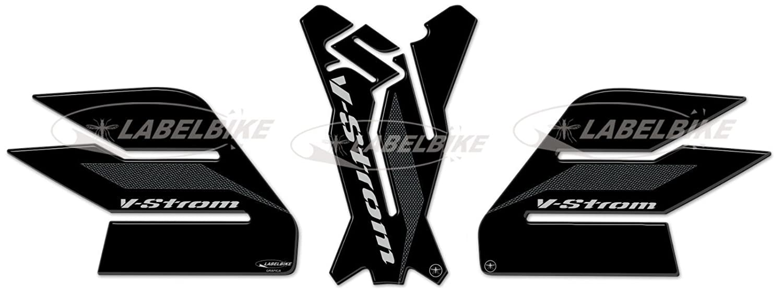 3 Kits Tanque Compatible para Moto Suzuki V-Strom 650 2017-19