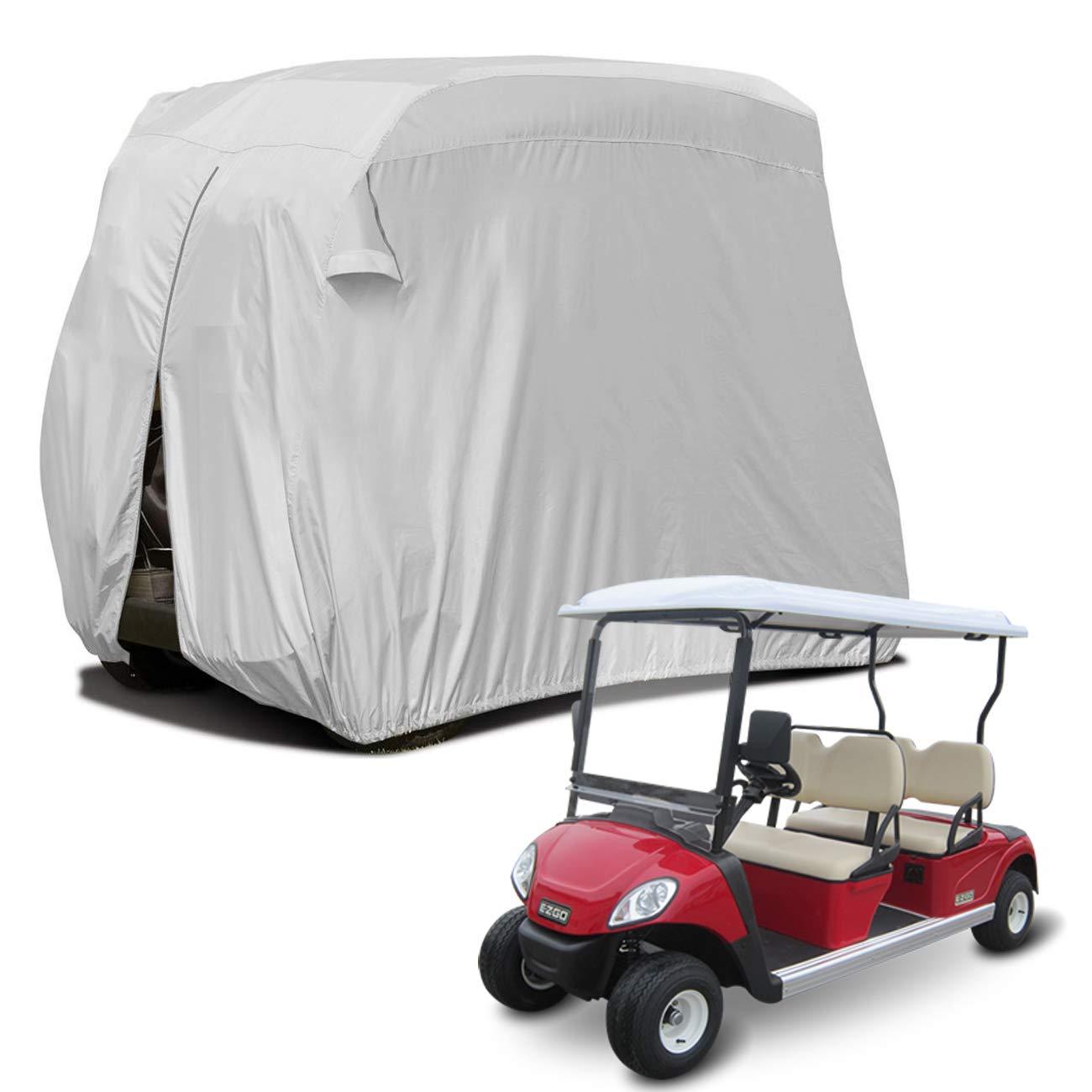 Sunnyglade 4 Passenger Waterproof Golf Cart Cover Roof 80'' L, Fits EZ GO, Club Car Yamaha, Dustproof Durable (Silver)