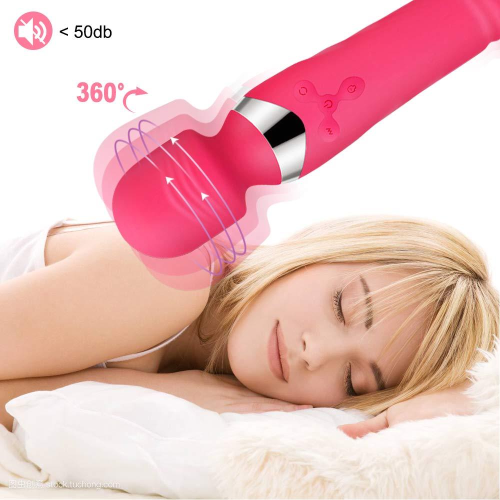 YEVIOR Vibratoren für Sie Magic Wand Massager,Doppelkopf Massagestab mit Erwärmungsfunktion und Stoßfunktion, G-Punkt Klitoris Stimulator, 7 Vibrationsmodi,Medizinisches Silikon