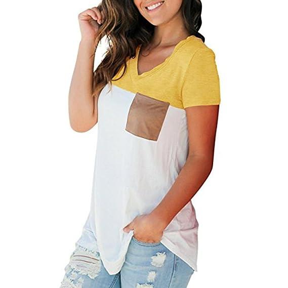 FAMILIZO Camisetas Mujer Manga Corta Camisetas Casual Mujer Verano Blancas Camisetas Mujer Casual Camisetas Mujer Verano Blusa Mujer Camisetas Basicas Mujer ...