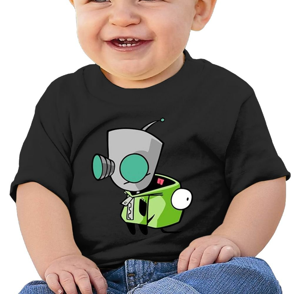 6-24 Month Baby T-Shirt Invader Zim Gir Doom Logo Personalized Fashion Customization Black