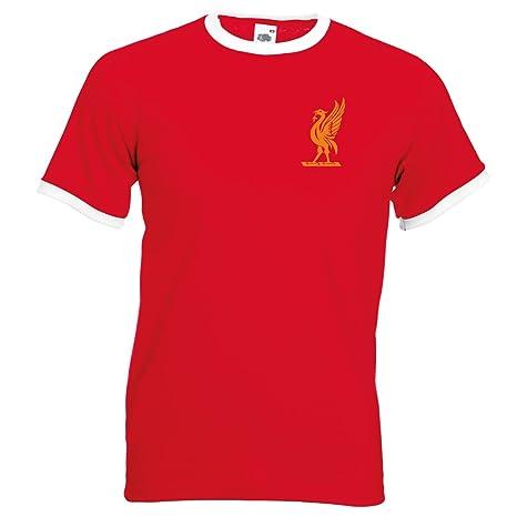 reputable site 4faf2 1c5cd Bags of Nostalgia Liverpool Liver Bird Football Shirt 60's Style