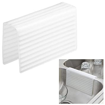 kitchen sink saddle double sink protector cover frosted white - Kitchen Sink Protector