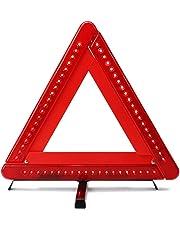 AUTLY Triangle d'avertissement Pliable LED Sécurité Voiture/Bord de la Route Réfléchissant Triangle D'urgence Réflecteur Clignotant
