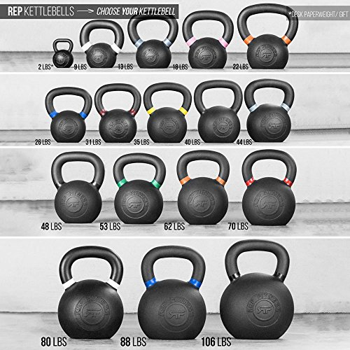 Rep Kettlebells for Strength and Conditioning, Fitness, and Cross Training LB and KG Markings Kettlebell Available