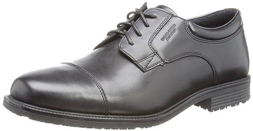 Rockport Men's Essential Details Waterproof Cap Toe Shoes, Black, 7 UK  (40.5 EU