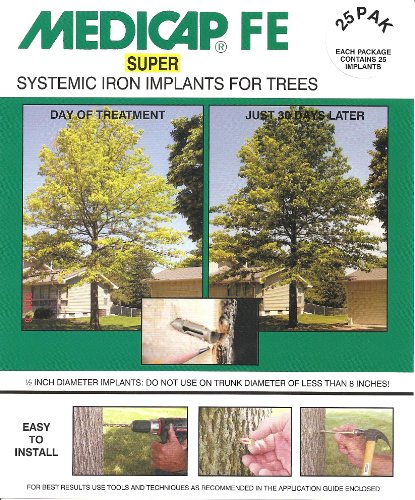 Medicap 25-Pack FE SUPER Systemic Iron Tree Implants for Control of Iron Chlorosis, 1/2-Inch ()