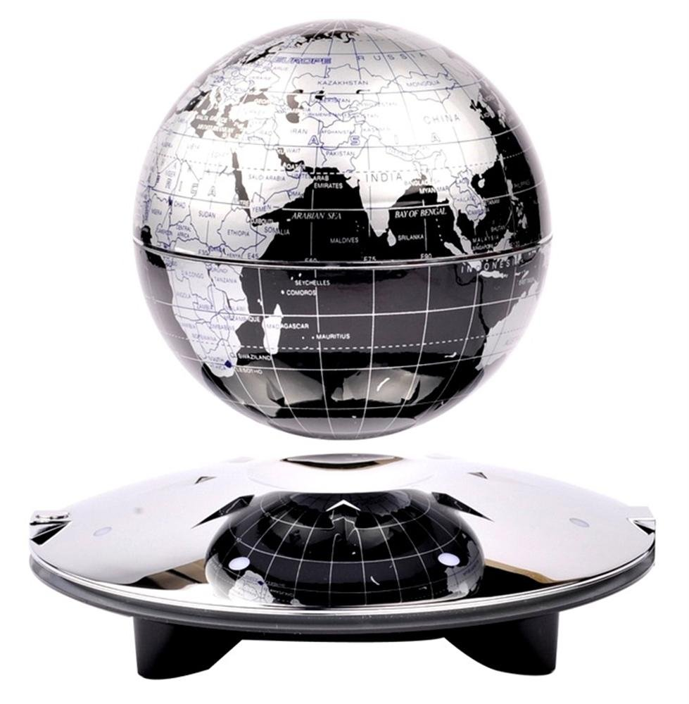 Amazon black led light 6 inch magnetic levitation floating amazon black led light 6 inch magnetic levitation floating world globe anti gravity rotation gadget gift office educational toy home decoration gumiabroncs Gallery