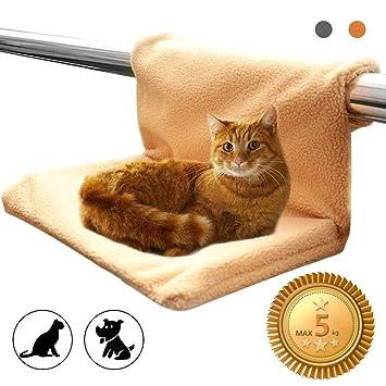 HINATAA Cama Radiador Cama de Gato, Desmontable Suave Lavable para Asientos de Descanso para Mascotas Peluche (Beige): Amazon.es: Productos para mascotas