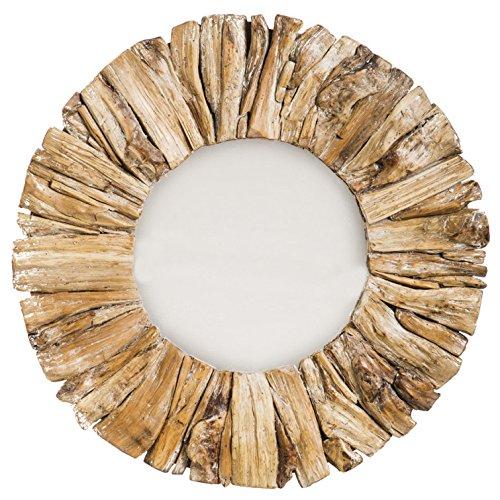 Bella Coastal Decor Round Driftwood Mirror