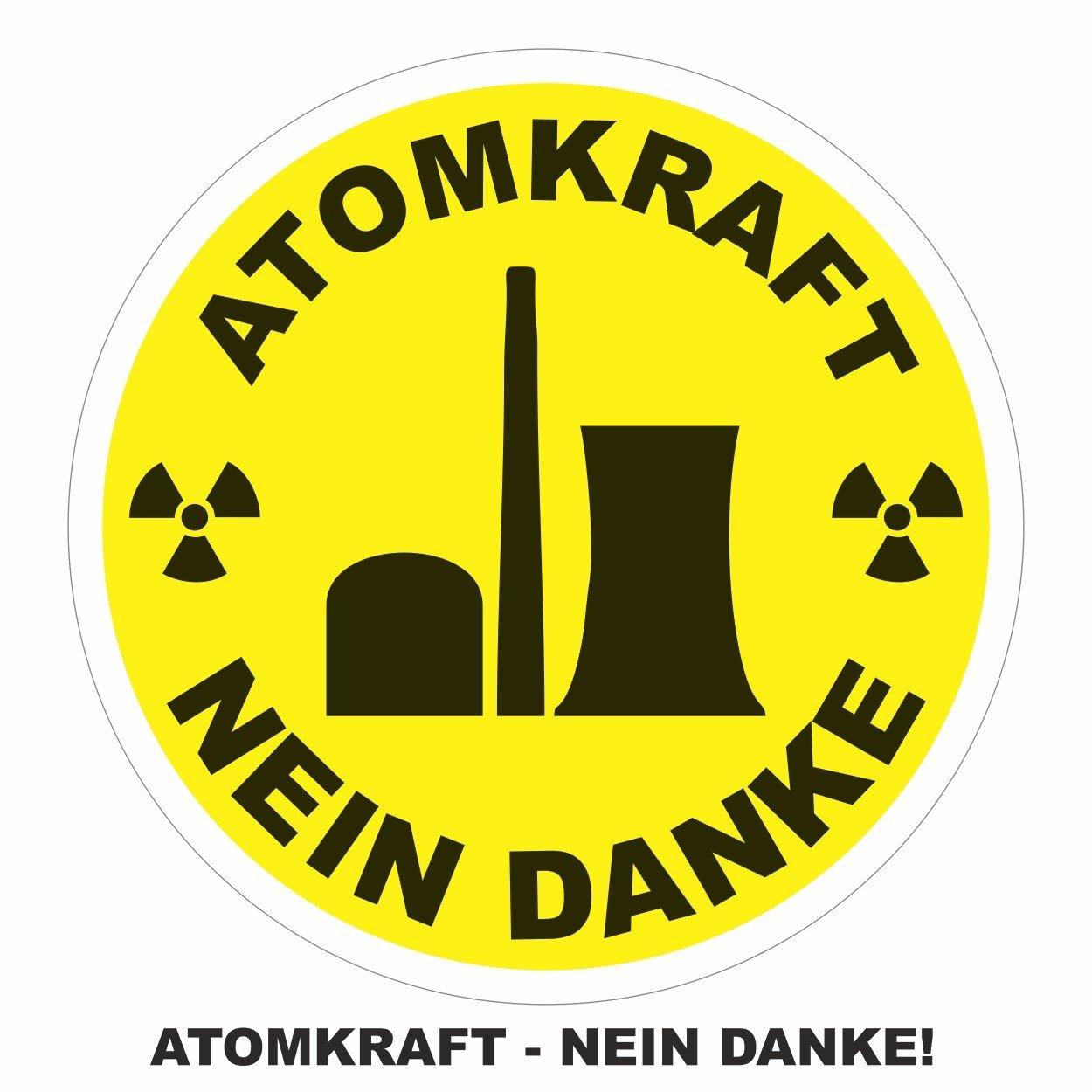 Aufkleber Atomkraft Nein Danke
