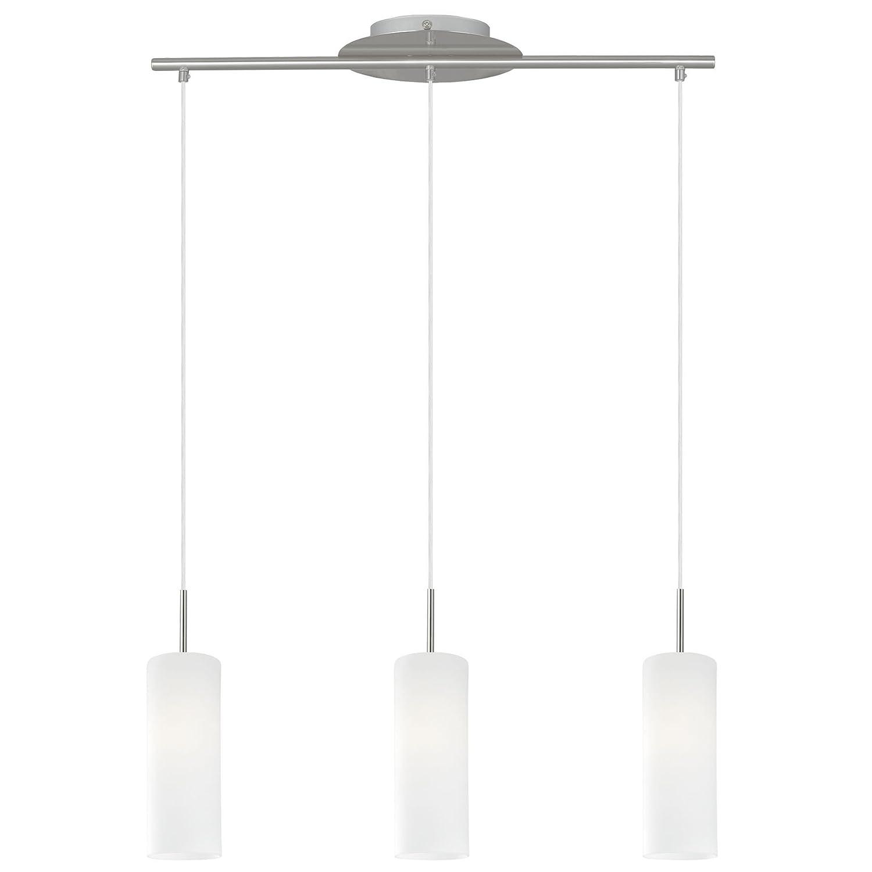 RGB LED Hänge Pendel Leuchte Wohnraum Decken Glas Lampe Fernbedienung DIMMBAR Eglo 75252
