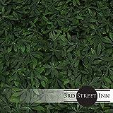 Artificial Marijuana Pot Leaf Hedge - Fake Weed Plant - Smoke Shop Decor - Sound Diffuser Marijuana Wall Art - Topiary Cannabis Greenery Panels (Cannabis, 12 Pack)
