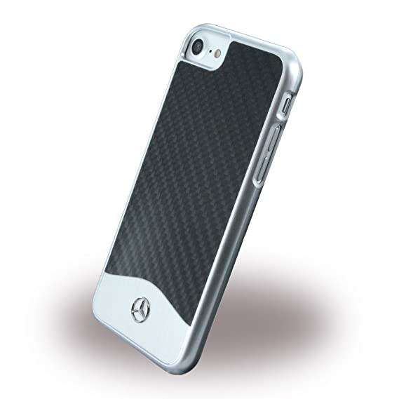 competitive price b5fc3 919cb Mercedes-Benz Wave V Carbon Fiber Brushed Aluminum Hard Case for iPhone 7  (Black)