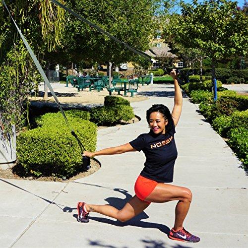 NOSSK TWIN PRO Bodyweight Fitness Strap Trainer Purple