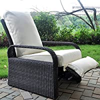 Babylon Outdoor Recliner Wicker Patio Adjustable Recliner