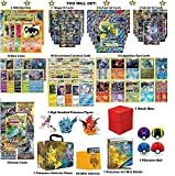 Pokemon Cards Ultimate Premium Collection - 2 Shining Holo, 2 MEGAs, 2 Full Art GXs, 2 Full Art EXs, 10 Legendary Rares, 10 Rares, 4 Boosters, 1 Mini Album, Elite Sleeves, 1 Deck Box, 1 Figure, 1 Ball