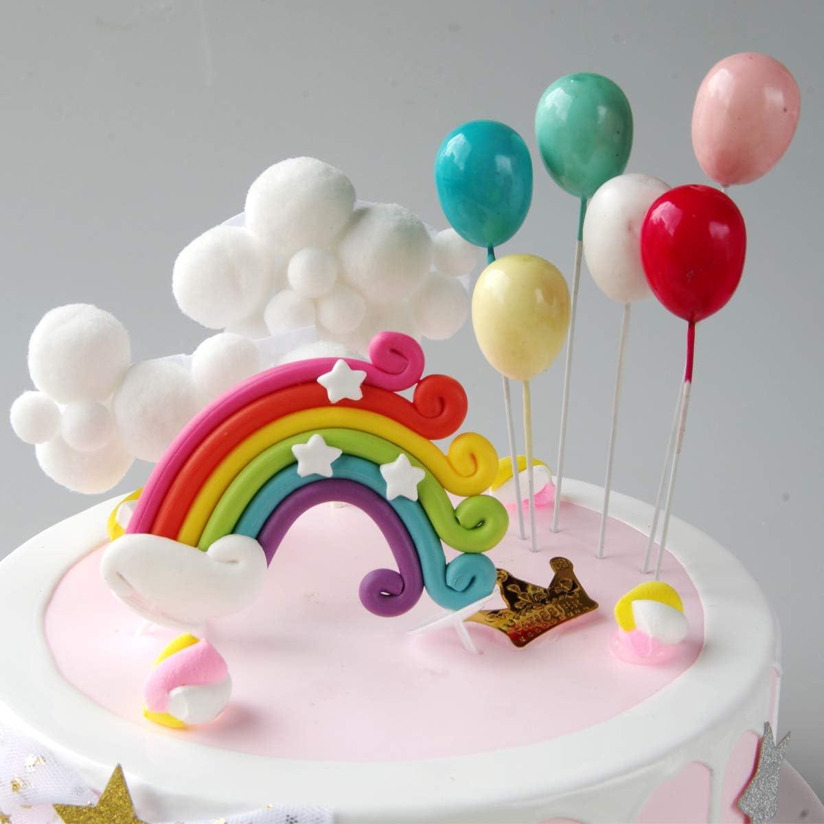 etc. argile Arc-en-Ciel et Nuage Duo moule en silicone pour gâteau Toppers