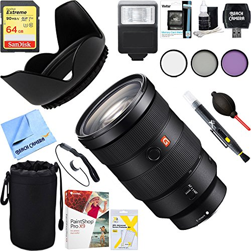 Price comparison product image Sony SEL2470GM FE 24-70mm F2.8 GM Full Frame E-Mount Lens + 64GB Ultimate Filter & Flash Photography Bundle