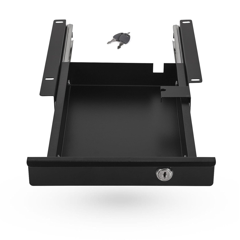 Tiroir Range Documents Fermant /à Cl/é 220 x 265 x 45 mm noir Tiroir pour Caisson de SO-TECH/®