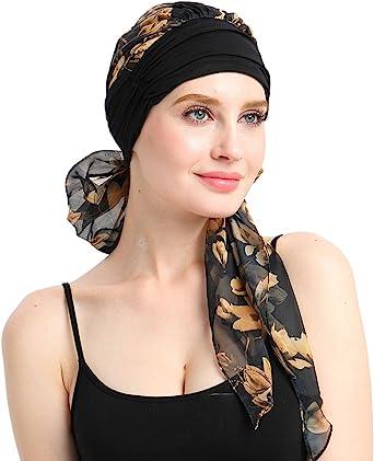 Tocados Para Quimioterapia Turbantes Para Mujer Pañuelo Para La Cabeza Para El Cabello Largo Sombreros Para Cáncer Talla única Se Ajusta A La Mayoría Clothing
