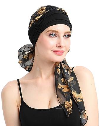 FocusCare Men s Soft Chemo Turban Bandana Pre-tied Scarves (Black)   Amazon.in  Clothing   Accessories 95d4cd77f13