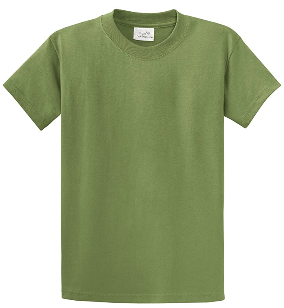 ea9bb22f2f6745 Amazon.com: Joe's USA Mens Big & Tall Heavyweight 100% Cotton Short Sleeve  T-Shirt. LT-4XLT: Clothing