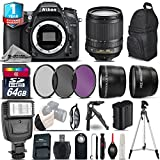 Holiday Saving Bundle for D7100 DSLR Camera + 18-105mm VR Lens + 64GB Class 10 Memory Card + Backpack + 1yr Extended Warranty + Flash + 0.43X Wide Angle Lens + 2.2x Telephoto - International Version