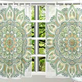 Cheap ALAZA Window Decoration Sheer Curtain Panels,Shabby Chic Art Vintage Retro Floral Flower,Door Window Gauze Curtains Living Room Bedroom Kid's Office Window Tie Top Curtain 55×78 inch Two Panels Set