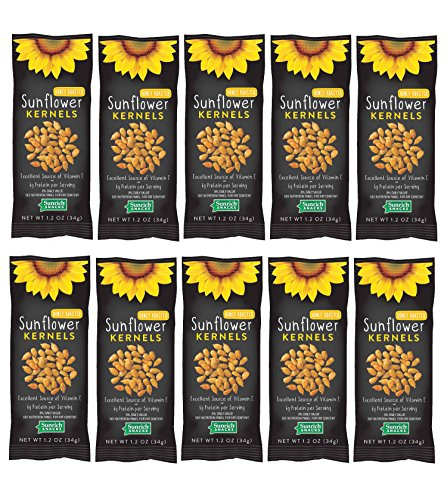 Sunflower Food Co Honey Roasted Sunflower Kernels 1.2 oz Bags 10 Pack - Non-GMO Sunflower Seeds Single Serving Snack - Kosher