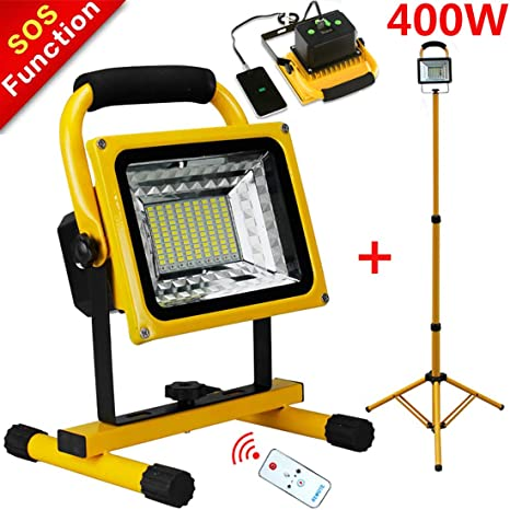 Foco LED Proyector LED 400W, Focos Luces de trabajo, 15600 mAh ...