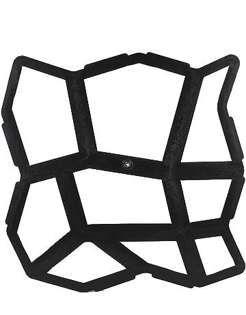 Kicode Irregular 43.5X43.5Cm Bricolaje Negro Entrada de Coches pavimentación pavimento Piedra Stepping Molde