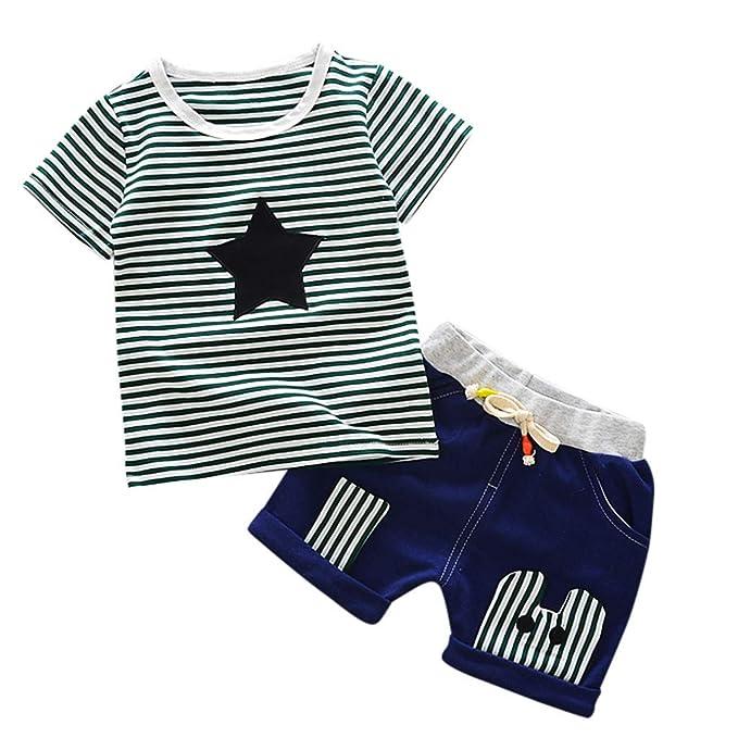 2PCS Set Toddler Baby Kids Girl Summer Clothes Blue Tops+Shorts Pants Outfits UK