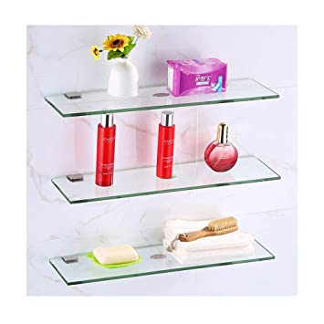 Amazon.com: Estante de cristal para baño de Star-Shelf ...