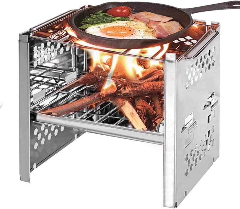 Barbecue portable Acier inoxydable Barbecue /à charbon R/échaud pliable pour camping Jardin