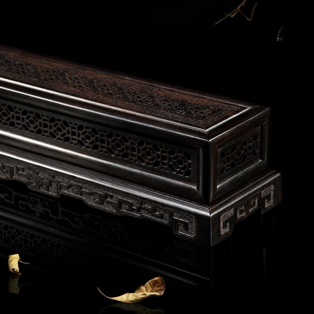 Rosewood Ebony Wood Incense Burner Holder Coffin Incense Burner Box Incense Stick Holder by Spie (Image #2)