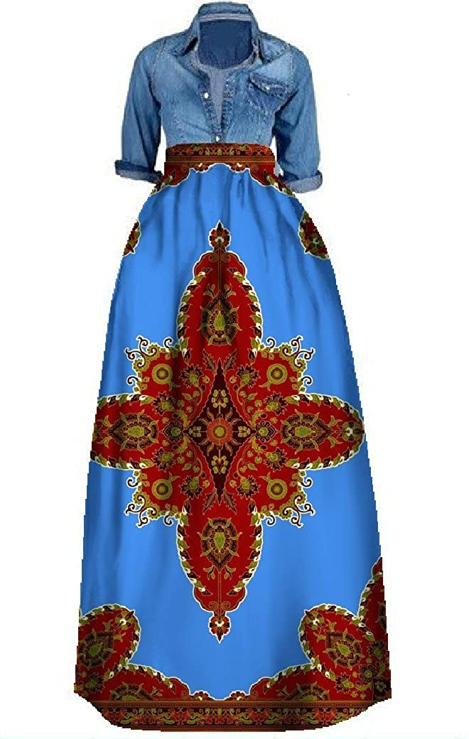 28e12ac950d This maxi skirt is a surefire hit for any fashionista. The bold pattern of  this dashiki maxi skirt is sure to make you stand out in a crowd