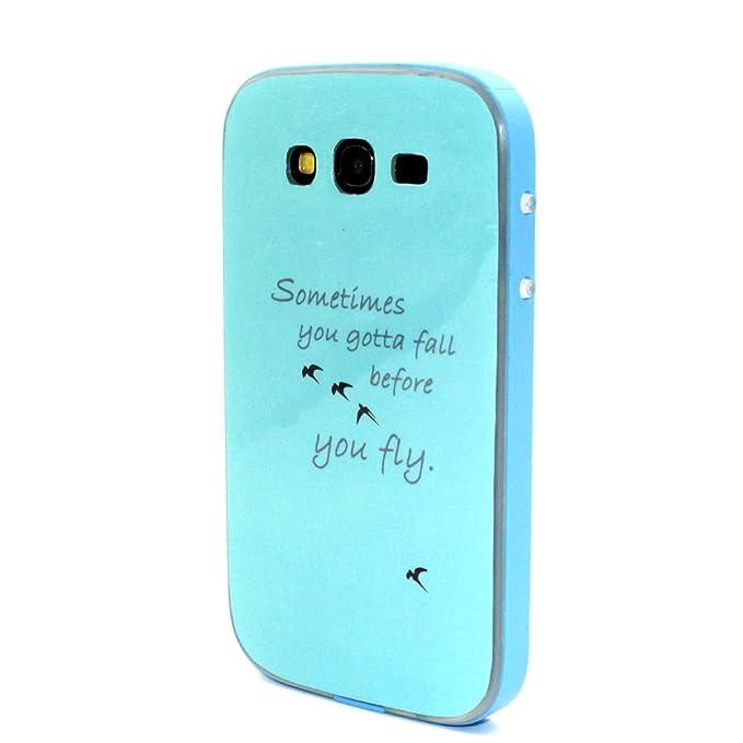 Silicone Case Cover for Samsung Galaxy Grand Neo Plus,URFEDA Suave Gel TPU Silicona 2in1 Cases Covers Ultra Slim Azul Dibujos Carcasa Bumper Funda ...