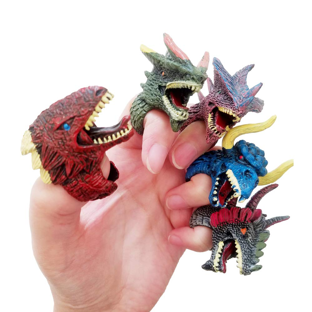 Ginkago Dinosaur Dino Fossil Rings Party Favors Decoration Supplies Jurassic T-REX Finger Toys for Kids Boys Girls Christmas Birthday Gifts 12Pcs