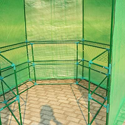 Outsunny Outdoor Portable Walk-in Hexagonal Greenhouse Kit