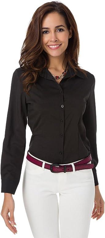 button down shirt black