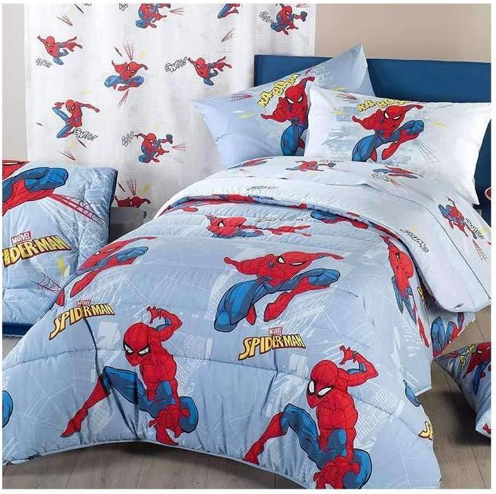 Copripiumino Spiderman Una Piazza E Mezza.Caleffi Trapunta Spiderman Time 1 Piazza E Mezza Disney Amazon It