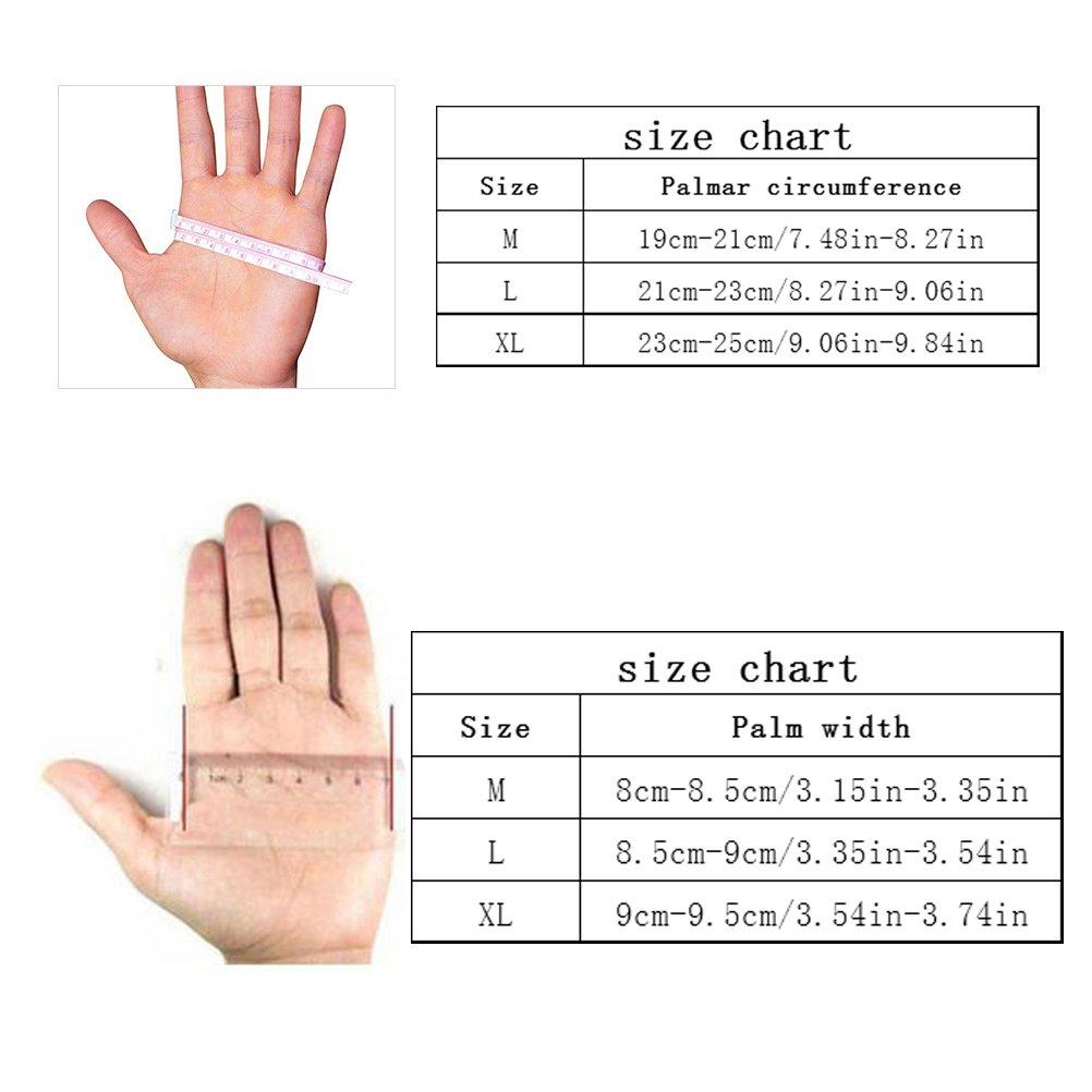 Jelinda Leather Weight Lifting Gloves Adjustable Pro Padded Gloves Half Finger 1615196413653