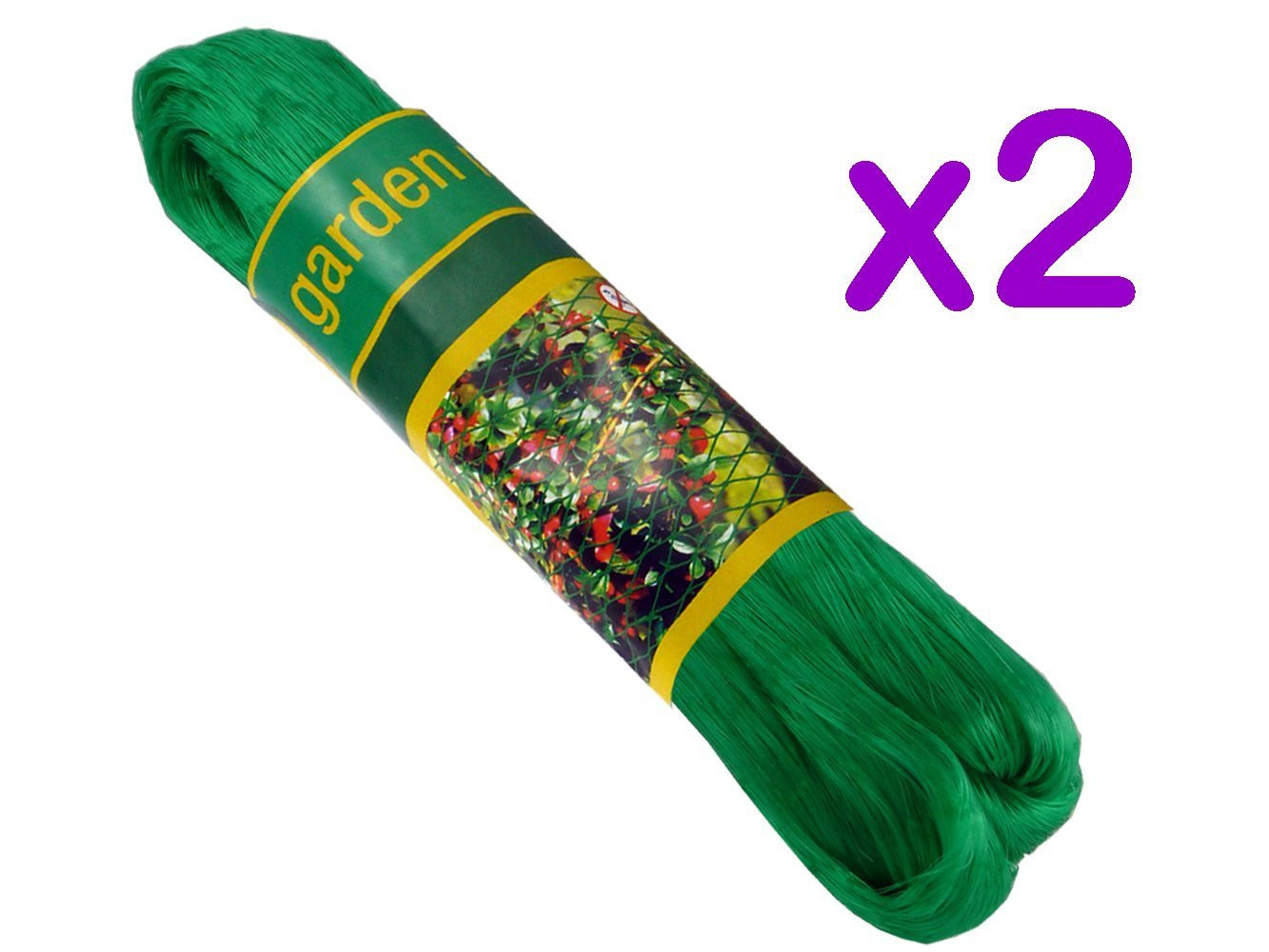 2 Pack - 2m x 10m Strong & Durable Garden Pond Nylon Netting Value 4 Money