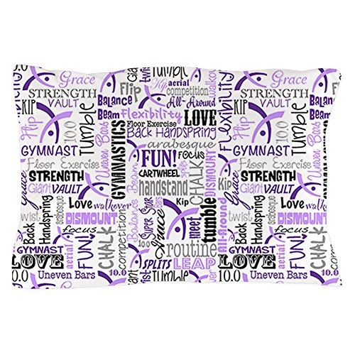 CafePress Gymnastics Messenger Standard Pillow